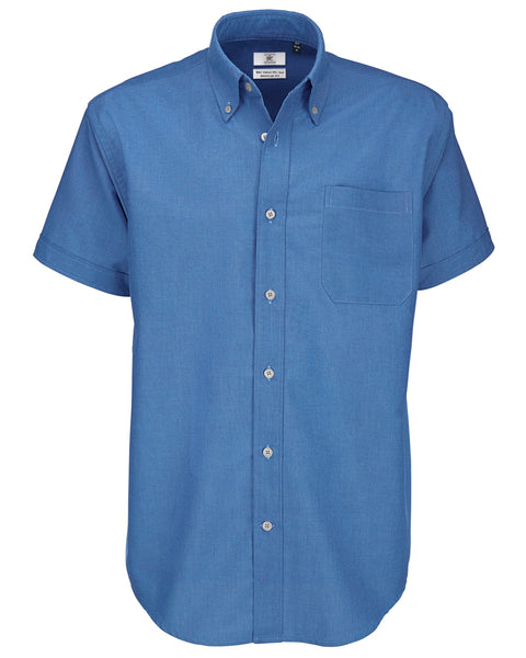 SMO02 B&C Men's Oxford Short Sleeve Shirt