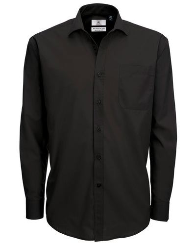 SMP61 B&C Men's Smart Long Sleeve Poplin Shirt