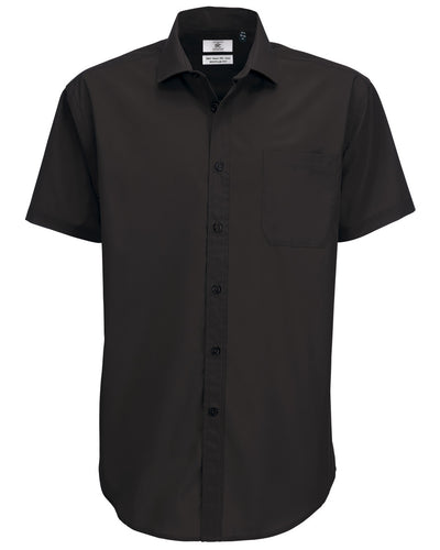 SMP62 B&C Men's Smart Short Sleeve Poplin Shirt