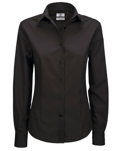 SWP63 B&C Women's Smart Long Sleeve Poplin Shirt