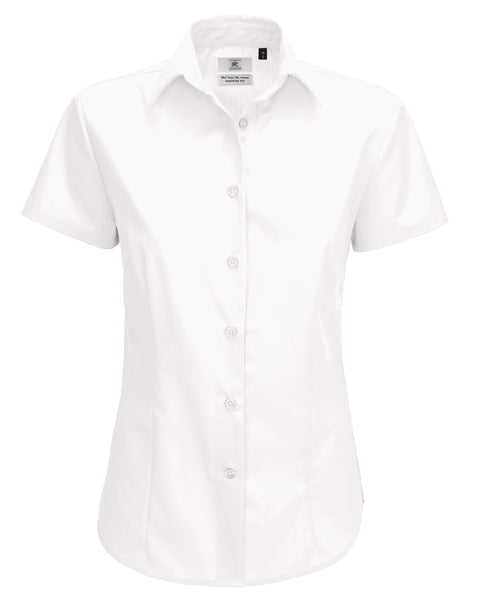 SWP64 B&C Women's Smart Short Sleeve Poplin Shirt