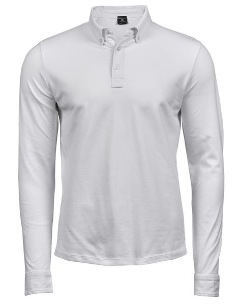 TJ1412 Tee Jays Long Sleeve Fashion Luxury Stretch Polo