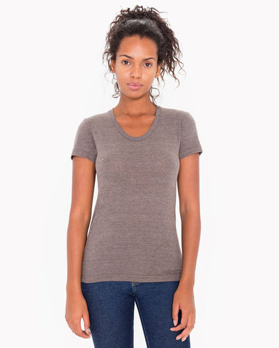TR301W American Apparel Women's Triblend Short Sleeve Track Tee