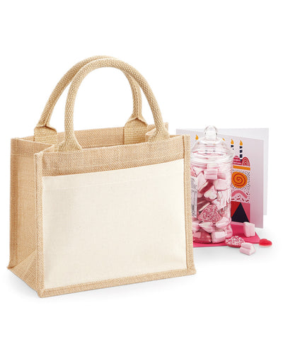 W425 Westford Mill Cotton Pocket Jute Gift Bag
