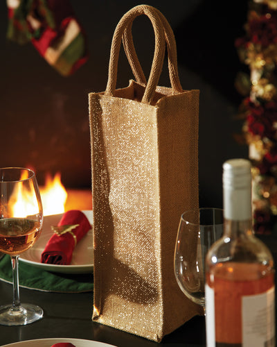 W433 Westford Mill Shimmer Jute Bottle Bag
