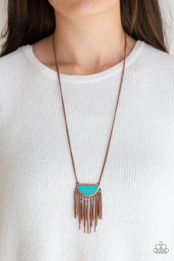 Paparazzi Desert Hustle - Copper - Turquoise Stone - Necklace & Earrings - Lauren's Bling $5.00 Paparazzi Jewelry Boutique
