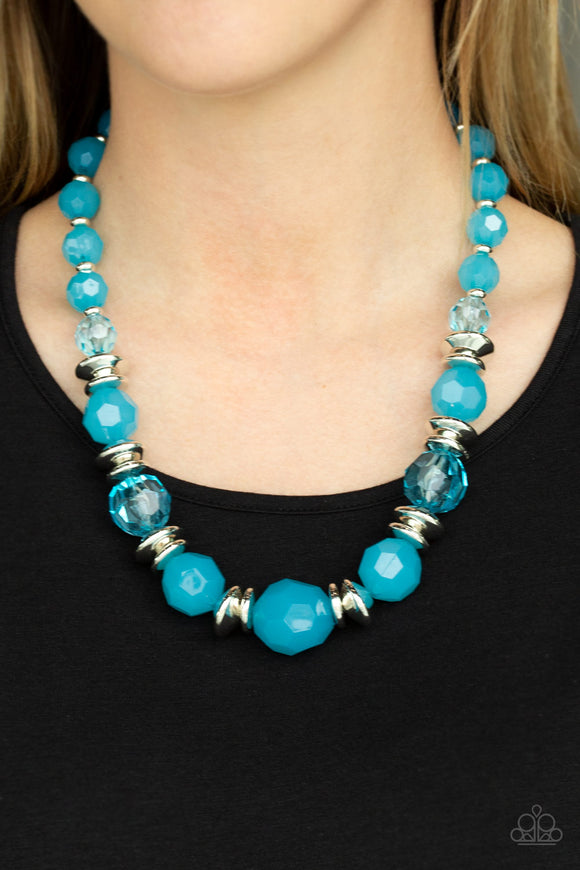 Paparazzi Dine and Dash - Blue - Necklace & Earrings