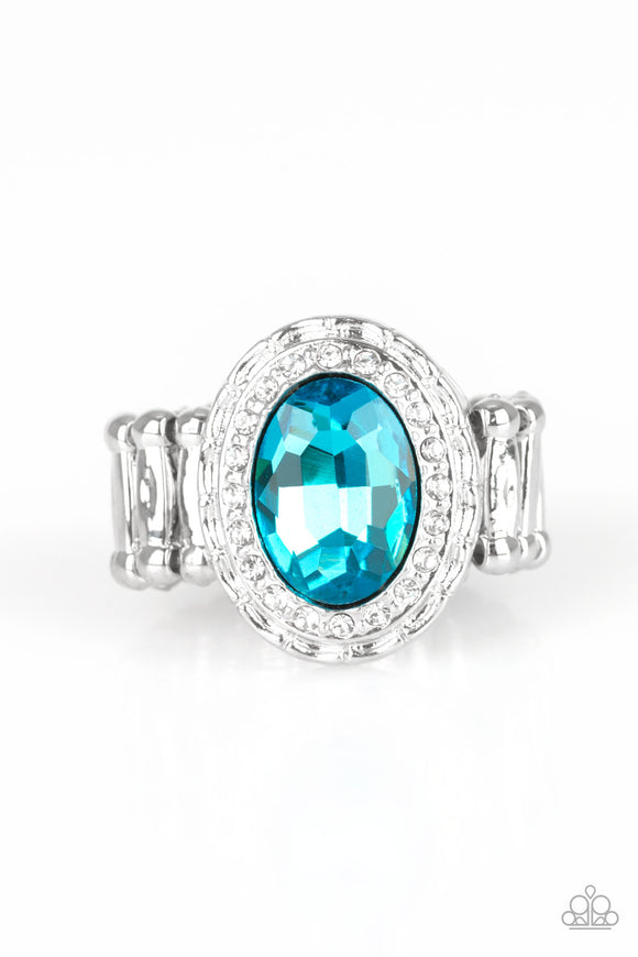 PRE-ORDER - Paparazzi Fiercely Flawless - Blue - Ring - Lauren's Bling $5.00 Paparazzi Jewelry Boutique