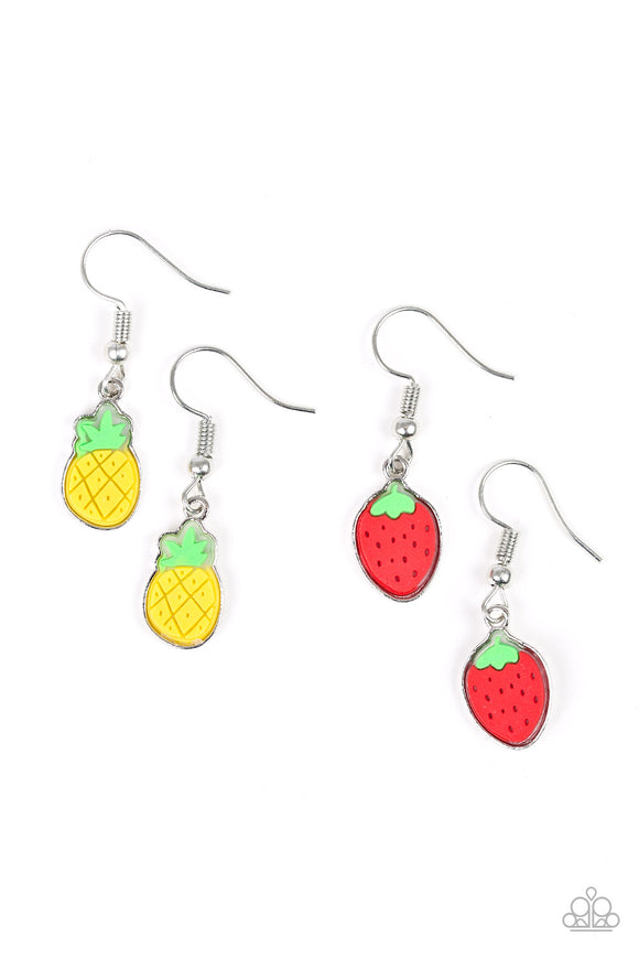 Paparazzi Starlet Shimmer Earrings - 10 pairs - Pineapple, Strawberry and Cherry