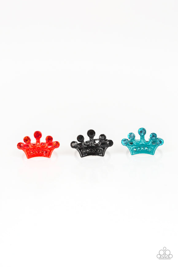 Paparazzi Starlet Shimmer Rings - 10 - Red, Black, Blue and Pink Crowns w/Rhinestones!