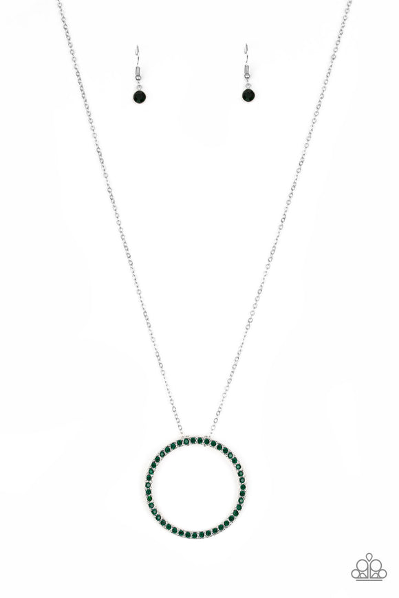 Center Of Attention - Green - Necklace
