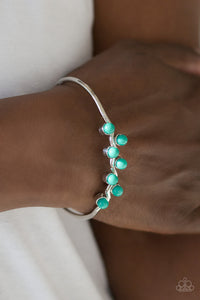Paparazzi Tropical Tides - Green - Beads - Silver Cuff Bracelet - Lauren's Bling $5.00 Paparazzi Jewelry Boutique