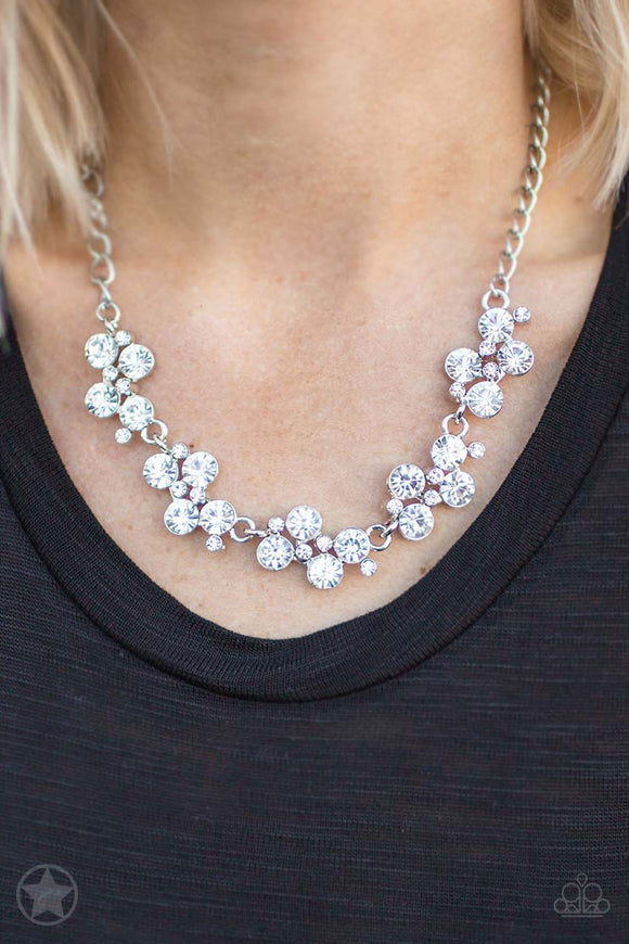 Paparazzi Hollywood Hills - White - Necklace & Earrings - Blockbuster Exclusive - Lauren's Bling $5.00 Paparazzi Jewelry Boutique