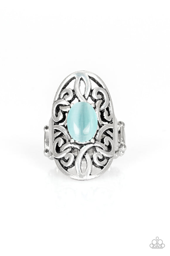 PRE-ORDER - Paparazzi GLEAM Big - Blue Cat's Eye Stone - Ring - Lauren's Bling $5.00 Paparazzi Jewelry Boutique