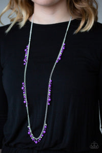 Paparazzi Miami Mojito - Purple Beads - Silver Necklace & Earrings - Lauren's Bling $5.00 Paparazzi Jewelry Boutique
