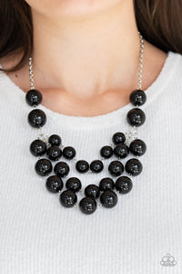 Paparazzi Miss Pop-YOU-larity - Black Beads - Three Strands - Necklace and matching Earrings - Lauren's Bling $5.00 Paparazzi Jewelry Boutique