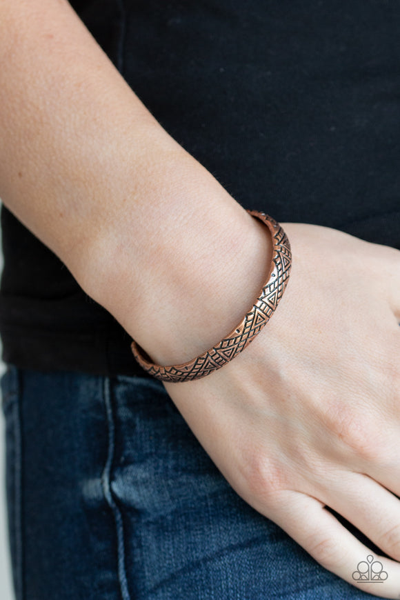 Paparazzi Power Pack - Copper - Stamped Cuff Bracelet - Lauren's Bling $5.00 Paparazzi Jewelry Boutique