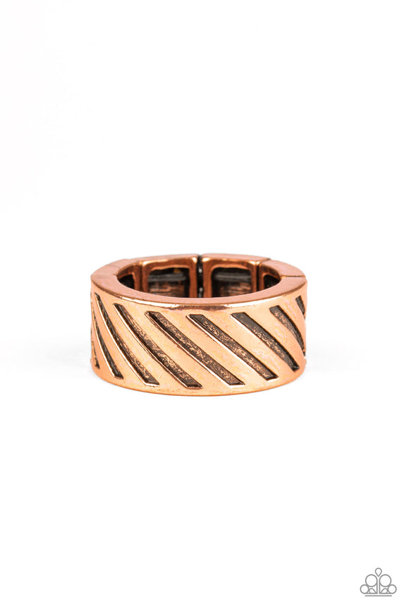 Paparazzi The Cavalier - Copper - Antiqued Finish Ring - Men's Collection