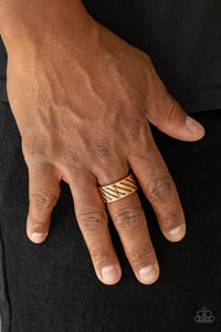 Paparazzi The Cavalier - Copper - Antiqued Finish Ring - Men's Collection - Lauren's Bling $5.00 Paparazzi Jewelry Boutique