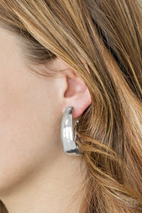 Paparazzi Gypsy Belle - Silver - Glistening Silver Hoop - Earrings - Lauren's Bling $5.00 Paparazzi Jewelry Boutique