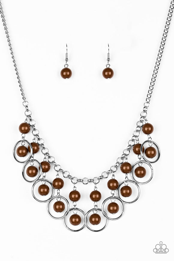 Really Rococo - Brown Necklace - Lauren's Bling $5.00 Paparazzi Jewelry Boutique