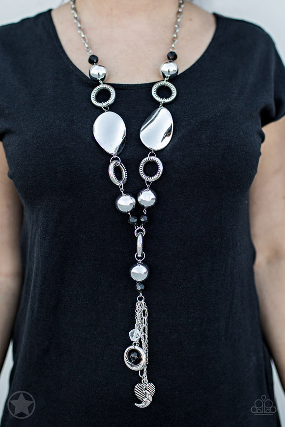 Paparazzi Total Eclipse Of the Heart - Black - Necklace & Earrings - Blockbuster Exclusive - Lauren's Bling $5.00 Paparazzi Jewelry Boutique