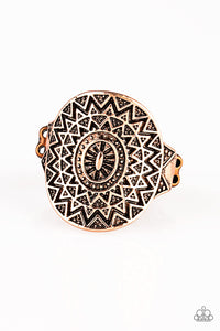 Paparazzi Good For The SOL - Copper - Sunburst Pattern - Ring - Lauren's Bling $5.00 Paparazzi Jewelry Boutique
