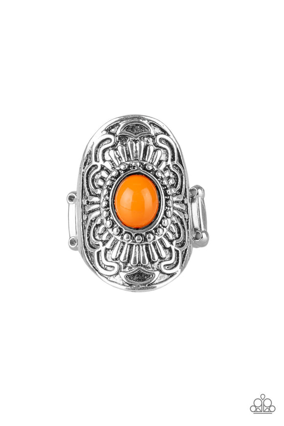 Paparazzi The ZEST Of The ZEST - Orange Bead - Silver Ring - Lauren's Bling $5.00 Paparazzi Jewelry Boutique