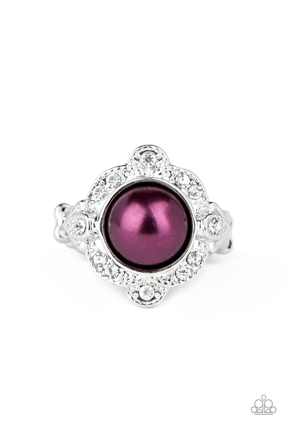 Paparazzi Ornamental Opulence - Purple Pearly Bead - Ring