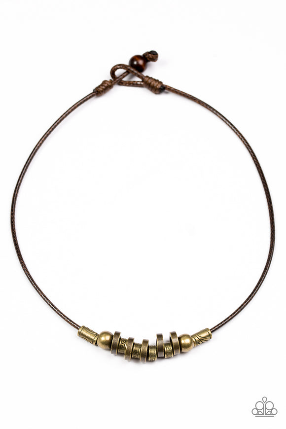 Ancient Canyons - Brass Necklace