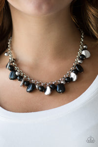 Paparazzi Flirtatiously Florida - Black - Shiny Silver Beads - Silver Chain Necklace & Earrings - Lauren's Bling $5.00 Paparazzi Jewelry Boutique