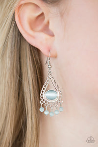 Paparazzi Give Me The GLOW-down - Blue Moonstone - Teardrop Earrings - Lauren's Bling $5.00 Paparazzi Jewelry Boutique