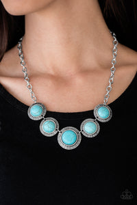 Paparazzi Mountain Roamer - Blue Turquoise - Necklace and matching Earrings - Lauren's Bling $5.00 Paparazzi Jewelry Boutique