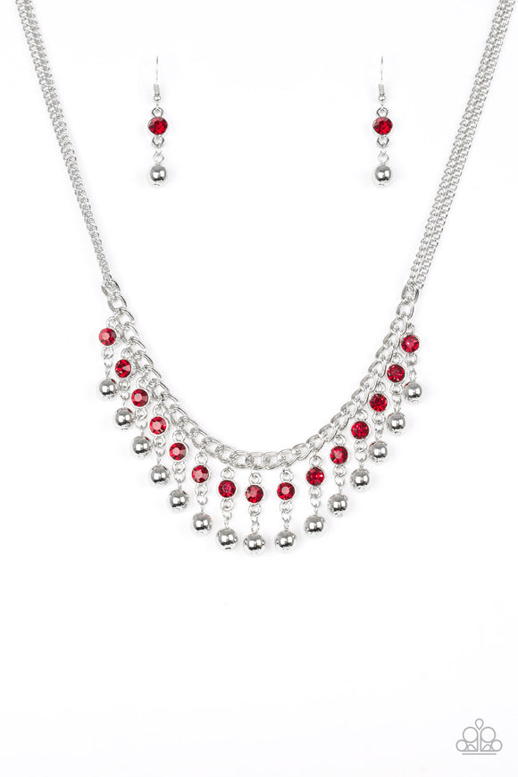 Pageant Queen - Red - Lauren's Bling $5.00 Paparazzi Jewelry Boutique