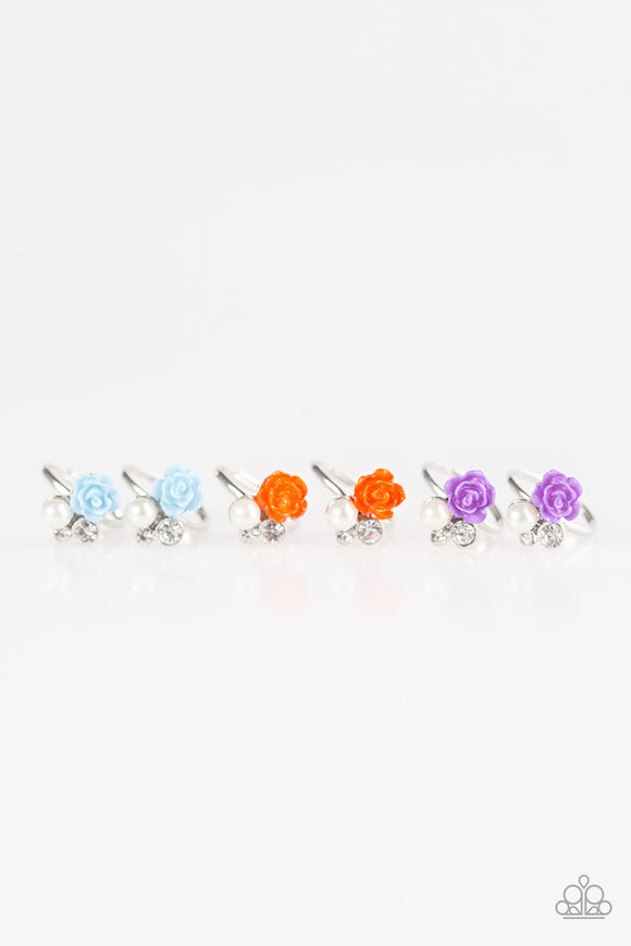 Paparazzi Starlet Shimmer Rings - 10 - Blue, Red, Orange & Purple Roses