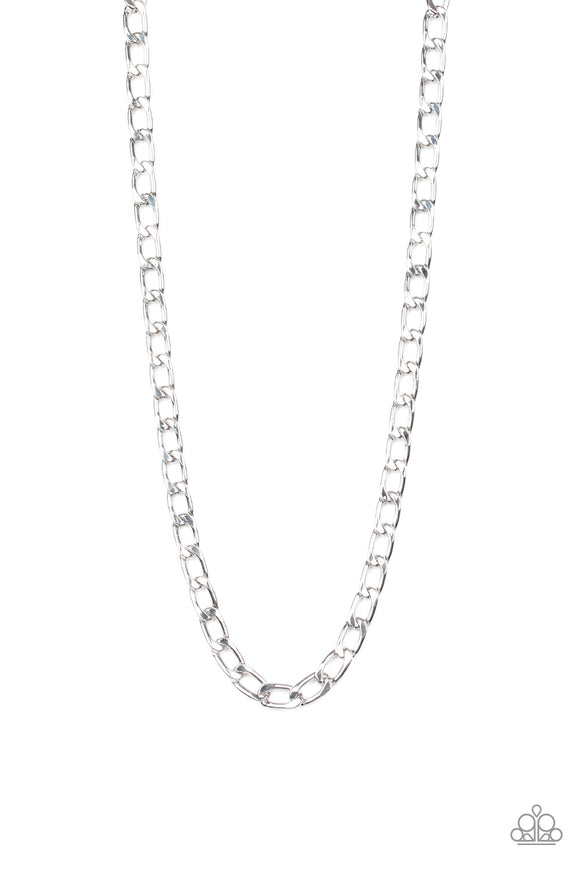 Paparazzi Big Win - Silver - Thick Cable Chain - Men's Necklace - Lauren's Bling $5.00 Paparazzi Jewelry Boutique