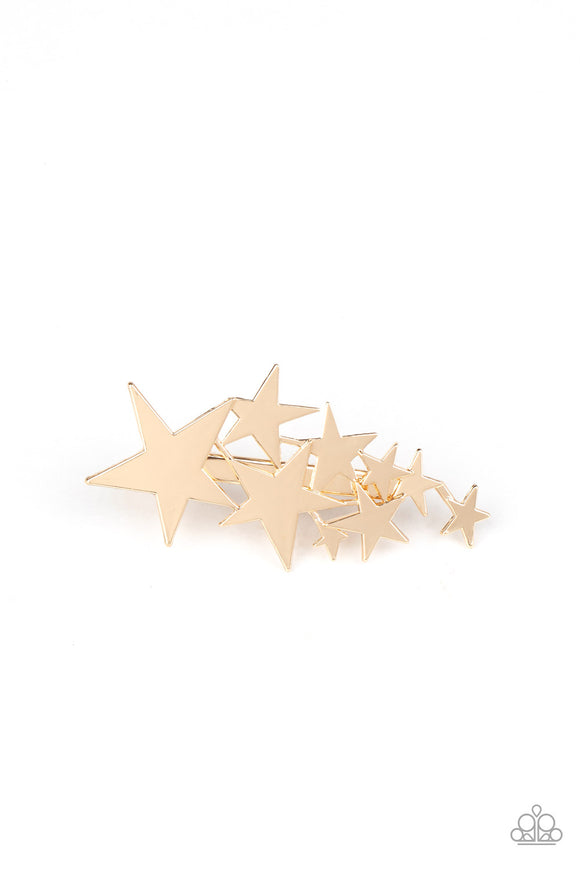 Paparazzi She STAR-ted It! - Gold - Hair Clip - Lauren's Bling $5.00 Paparazzi Jewelry Boutique