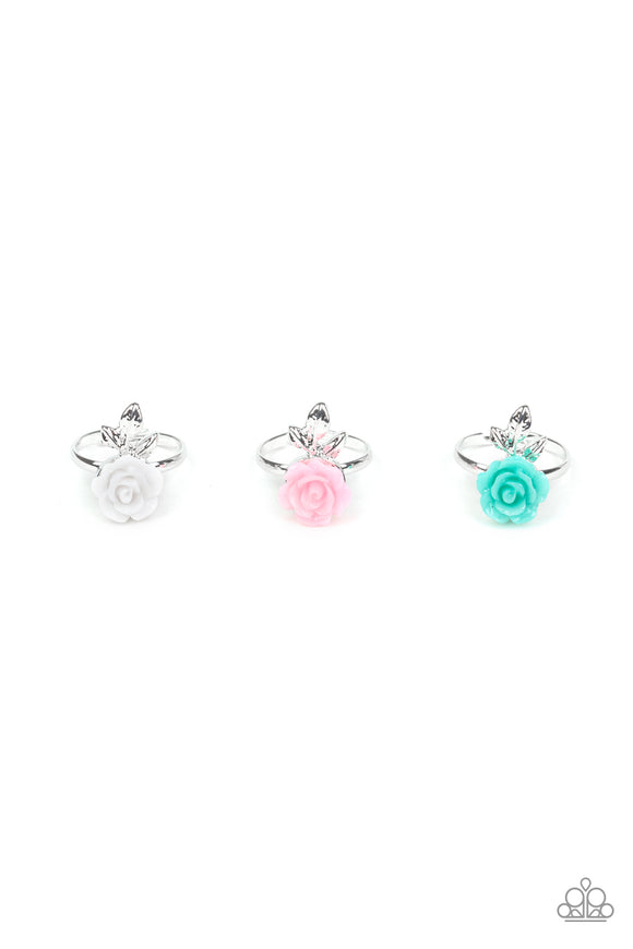 Paparazzi Starlet Shimmer Rings - 10 - Roses in White, Pink, Blue and Black