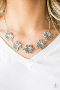 Paparazzi Island Maven - Silver Flower - Necklace & Earrings - Lauren's Bling $5.00 Paparazzi Jewelry Boutique