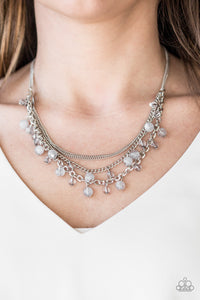 Paparazzi Ocean Odyssey - Silver - Gray Beads - Necklace & Earrings - Lauren's Bling $5.00 Paparazzi Jewelry Boutique