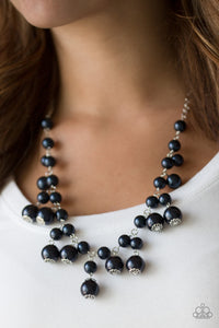 Paparazzi Soon To Be Mrs. - Blue Pearls - Necklace & Earrings - Lauren's Bling $5.00 Paparazzi Jewelry Boutique