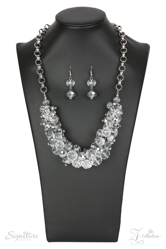 Paparazzi The Erika - 2018 Zi Collection - Necklace and matching Earrings
