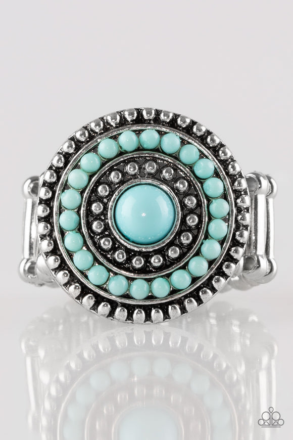 Paparazzi Tide Pools - Blue / Turquoise - Silver Ring - Lauren's Bling $5.00 Paparazzi Jewelry Boutique