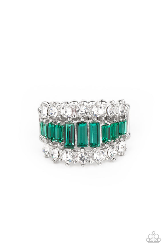 PRE-ORDER - Paparazzi CACHE Value - Green - Ring - Lauren's Bling $5.00 Paparazzi Jewelry Boutique
