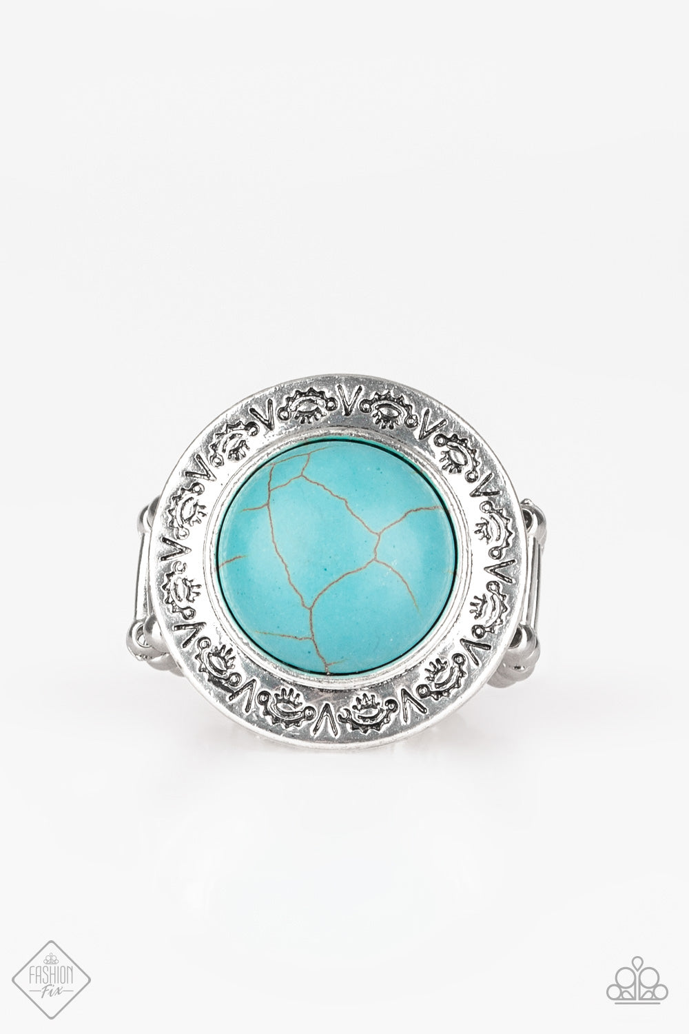Paparazzi Geo Glyphs Blue Turquoise Ring Fashion Fix Trend Ble