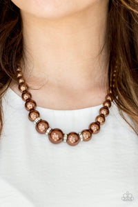 Paparazzi Party Pearls - Brown Pearls - Necklace & Earrings - Lauren's Bling $5.00 Paparazzi Jewelry Boutique