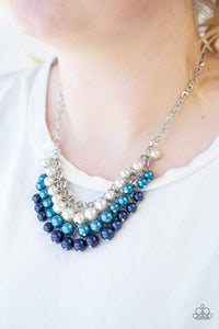 Paparazzi Run For The HEELS! - Blue Pearls - Necklace & Earrings - Lauren's Bling $5.00 Paparazzi Jewelry Boutique