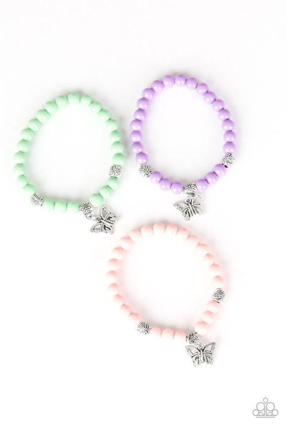 Paparazzi Starlet Shimmer Bracelets - 10 - Butterfly Charm - Green, Purple, Orange & Multi - Lauren's Bling $5.00 Paparazzi Jewelry Boutique