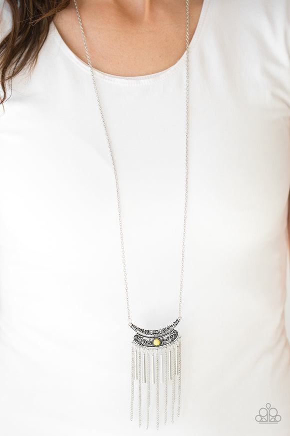 Paparazzi Take ZEN - Yellow Bead - Necklace and matching Earrings - Lauren's Bling $5.00 Paparazzi Jewelry Boutique