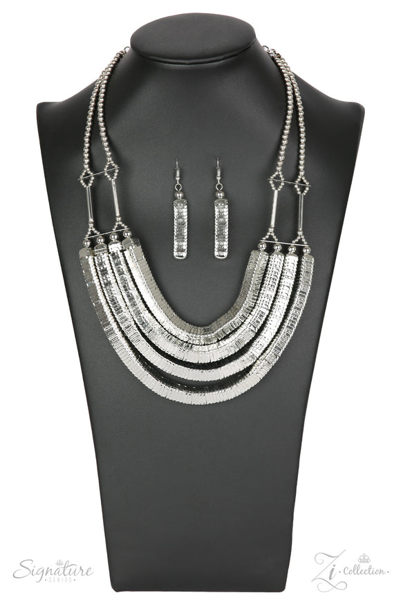 Paparazzi The Heidi - Zi Collection - Necklace and matching Earrings
